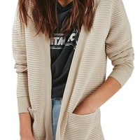Topshop Ottoman Ribbed Open Cardigan | Nordstrom