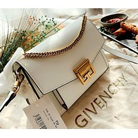 Givenchy 2019 new female personality personality wild chain bag shoulder bag white