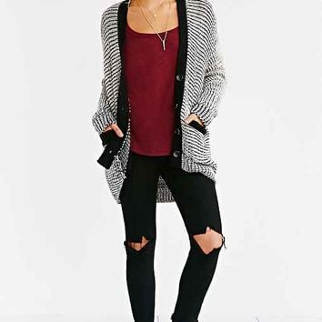 Lucca Couture Marled High/Low Cardigan-