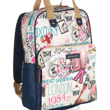 London Sights Top Handle Backpack | Navy | Accessorize