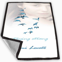 Demi Lovato Staying Strong Blanket for Kids Blanket, Fleece Blanket Cute and Awesome Blanket for your bedding, Blanket fleece **