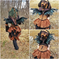 Black Feather Costume Wings REAL feather RaVeN LARP Cosplay Halloween Costume festival Fairy Wings Dark Faery Wings Fully Posable