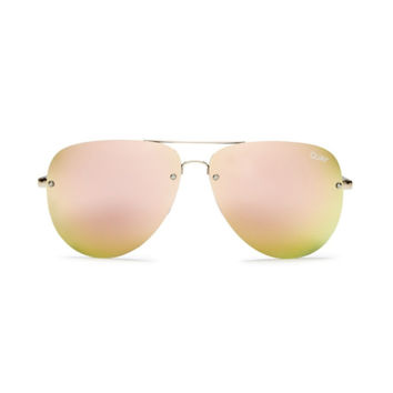 Quay - Muse Sunglasses - Gold/ Pink Mirror