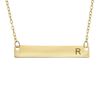 best personalized horizontal bar necklace products on wanelo. Black Bedroom Furniture Sets. Home Design Ideas