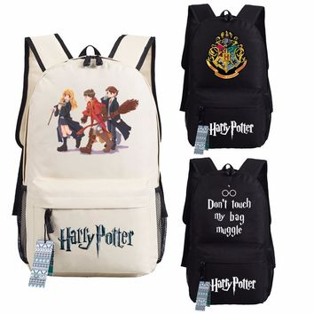 Harry Potter Hogwarts Backpack School Bags Book Children Bag Fashion Shoulder Bag  Students Backpack Travel Bag for teenagers