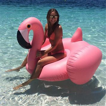 Inflatable Flamingo 150CM 60 Inch Giant Pool Float White-Swan Swimming Ring Adults&Children Water Holiday Party Toys Piscina