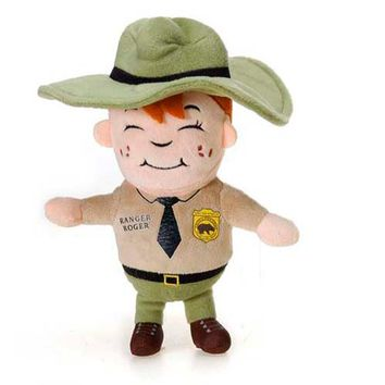 "11"" Stuffed Park Ranger Roger Boy Plush Animal North American Forest Collection"