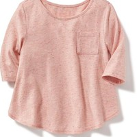Crew-Neck Pocket Top for Toddler | Old Navy