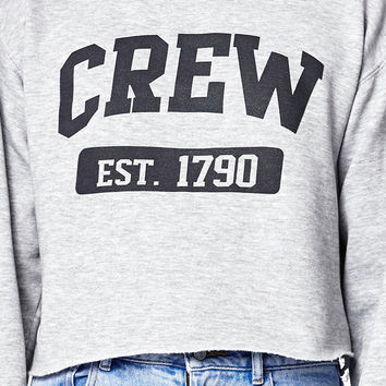 John Galt Cropped Crew Neck Sweatshirt at PacSun.com