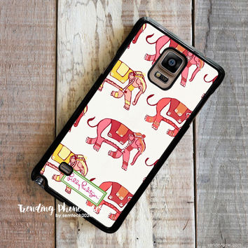 Elephant Cute Pattern-Lilly Pulitzer Samsung Galaxy Note 4 Case Cover for Note 3 Note 2 Case