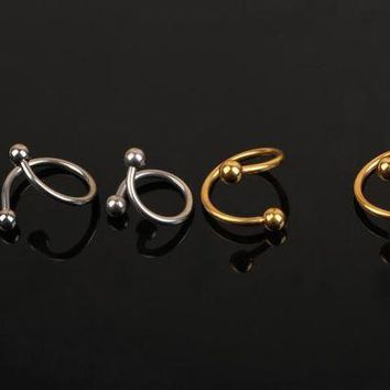 ac ICIKO2Q 1 Piece  Nose Unique Design Stainless Steel Twist Nose Lip Ring Nose Stud Body Jewelry For Women