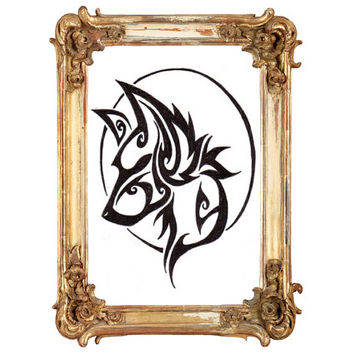 Cross stitch pattern FANTASY WOLF-PDF-Instant Download-Counted cross stitch-Grafitti Art-Tattoo Design-needlecraft-needlepoint-Animal