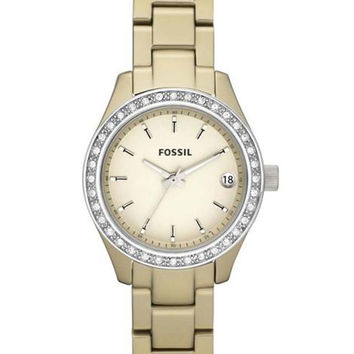 Fossil ES2962 Women's Stella Gold Tone Aluminum Crystal Watch