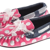 Girls Sparkle Dots Moccasin Shoe