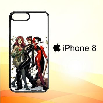 Poison Ivy Harley Quinn,Batgirl And Catwoman  Z0225 iPhone 8 Case