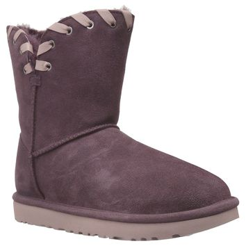 Ugg Australia Aidah Port Womens Suede Mid-Calf Pull-on Whipstitch Boots