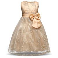 Little Girl Summer Brand Dresses For Girls Of 7 Years Children Formal Wear Princess Dress Girls Clothes Infant Party Costume