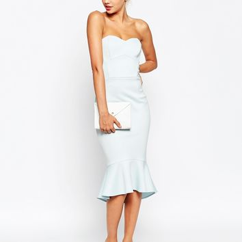 ASOS Pephem Bandeau Midi Dress at asos.com