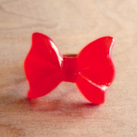 Bright Red Bow Ring - Country Mermaids