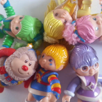 Vintage, Rainbow Brite, 80s , 1980s, 1983, Hallmark cards, toys, poseable, figures, choose style, 7-10cm, plastic, by NewellsJewels on etsy
