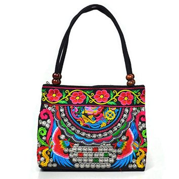 T2.0 Bohemian Embroidered Tote Handbag - 50% Off Today