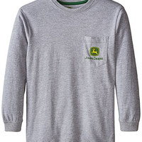 John Deere Big Boys' Quality and Innovation Pocket Tee, Heather Grey, Small