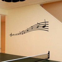 Music Notes Vinyl Wall Decal Art by ChuckEBrydWallArt on Etsy