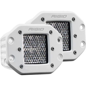 Rigid Industries D-Series PRO Specter-Diffused LED - Flush Mount - Pair - White [712513]