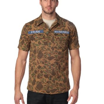 Under Two Flags USAF Camo Shirt - Green