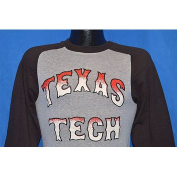 70s Texas Tech Red Raiders Champion 3/4 Sleeve Jersey Ringer t-shirt Small