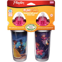 Playtex Stage Insulated Spill Proof Straw Cups 2 Pack - Princess / Bees