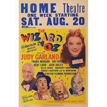 Vintage Wizard of Oz Poster//Classic Movie Poster//Movie Poster//Poster Reprint//Home Decor//Wall Decor//Vintage Art