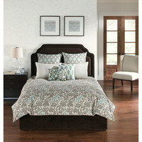 Hallmart Collectibles 67216 Camden Square Park Blue and Gray Six Piece King Comforter with Filler Set - (In No Image Available)