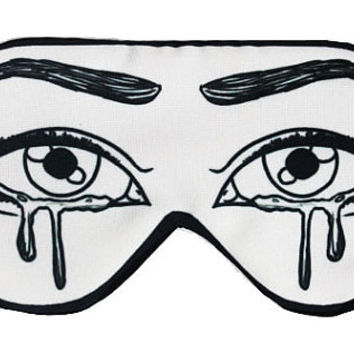 Cry Missing You Graphic Print Sleep Eye Sleeping Mask Masks Blindfold Eyemask Sleep patch patchs Eyeshade Sleepwear Sleep patch Cover mask