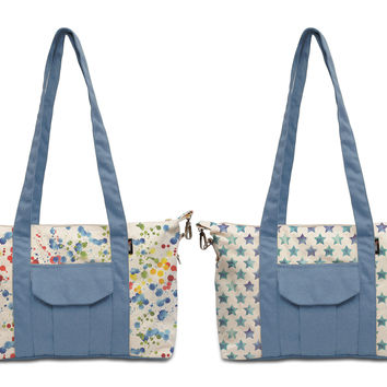 Women Aztec pattern Printed Picnic Canvas Shoulder Bags WAS_18