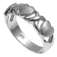 925 Sterling Silver Heart 7MM Ring