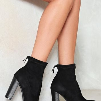 West End Blues Vegan Suede Bootie