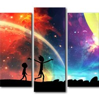 Rick and Morty Wall Art Print Modern Wall Art Panel Picture For Living Room