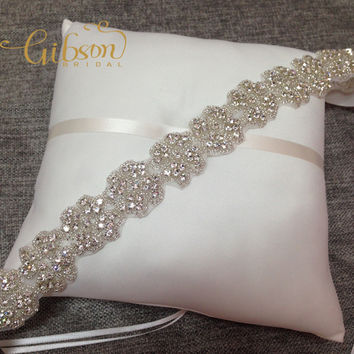 Free Shipping Rhinestone And Crystal Beaded Bridal Sash Belt For Wedding Dress