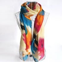 Fashionable Graceful Style Colorful Tie-Dye Scarf For Women