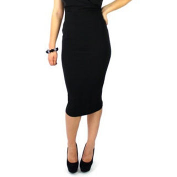 Classic Pinup Highwaisted  Black Fitted Pencil Skirt
