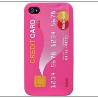 Hot Credit Card Soft Silicone Rubber Skin Case cover for Apple iPhone 4s 4 4G Peach:Amazon:Cell Phones & Accessories