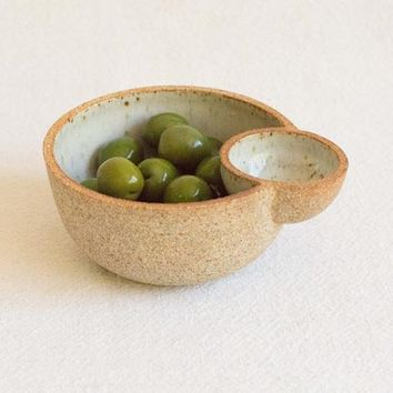 Julie Cloutier Ceramic Double Bowl at General Store