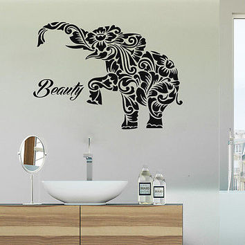 elephant decals bathroom wall decal indian home decor stickers boho ds11