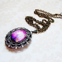 Violet Daze Small Wearable Art Locket by saruscrafts on Etsy