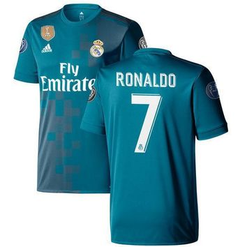 Cristiano Ronaldo Real Madrid Teal 2017/18 Third Replica Jersey