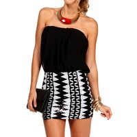 Sale-madelyn-black/white Homecoming Dress