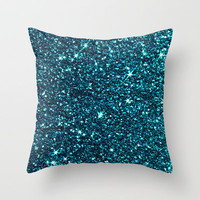 midnight blue sparkle Throw Pillow by ingz