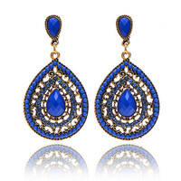 6 Colors Bohemian Big Earring Statement  Dangle earrings For women Vintage Drop Earrings Brincos Earing Fashion Jewelry 2014