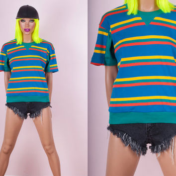 80s Striped Tshirt